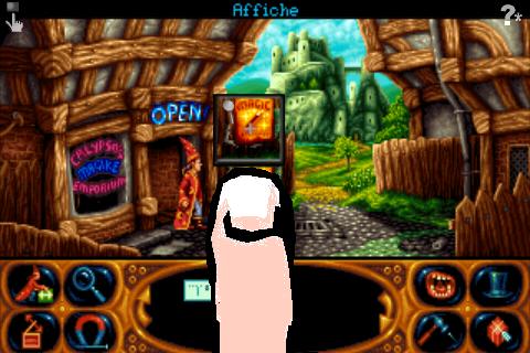 Screenshot Simon the Sorcerer 2: Le Lion, la magicien et l'armoire magique.